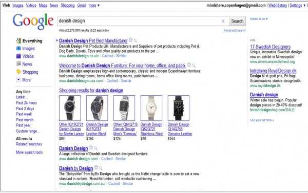 google søgning danish design